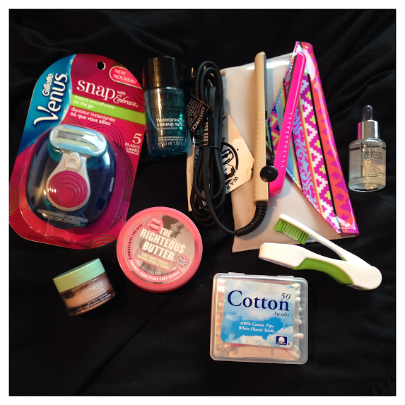 "A few of my other favorite travel items, in fun little ""airplane friendly"" sizes."