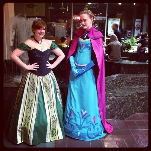 Anna and Elsa coronation dresses costume cosplay