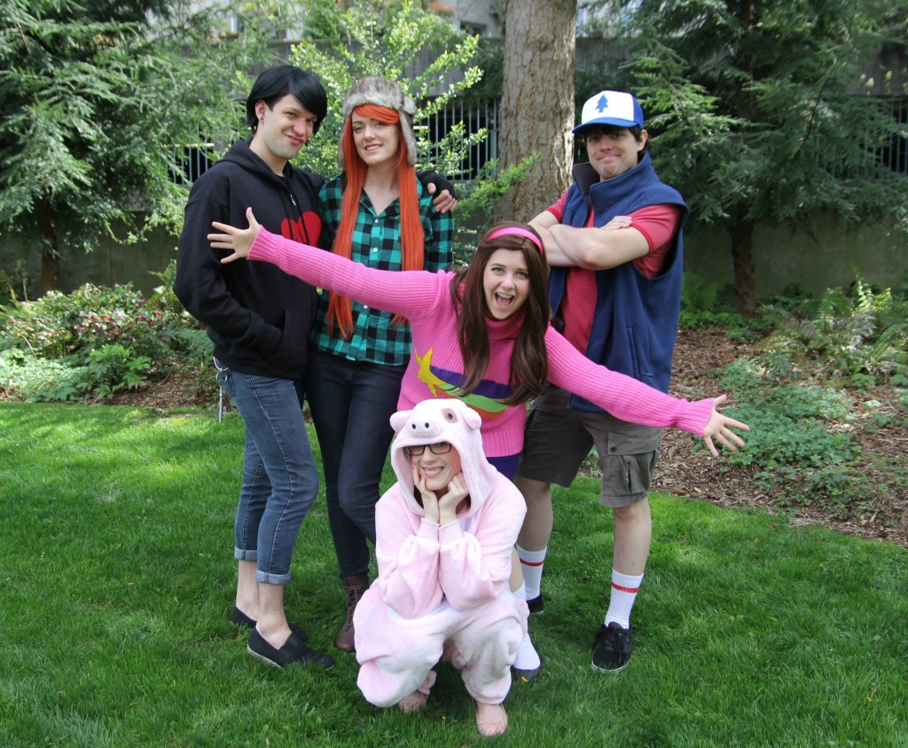Gravity Falls costumes cosplay group