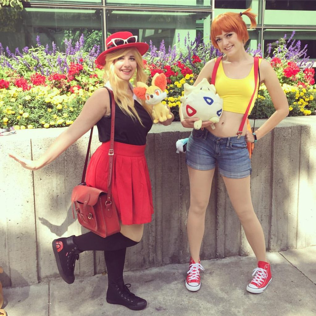 misty from pokemon, serena from pokemon xy, costumes cosplay wigs