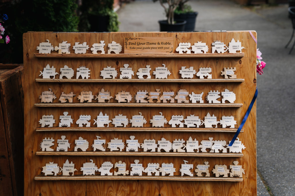 wedding puzzle seating chart