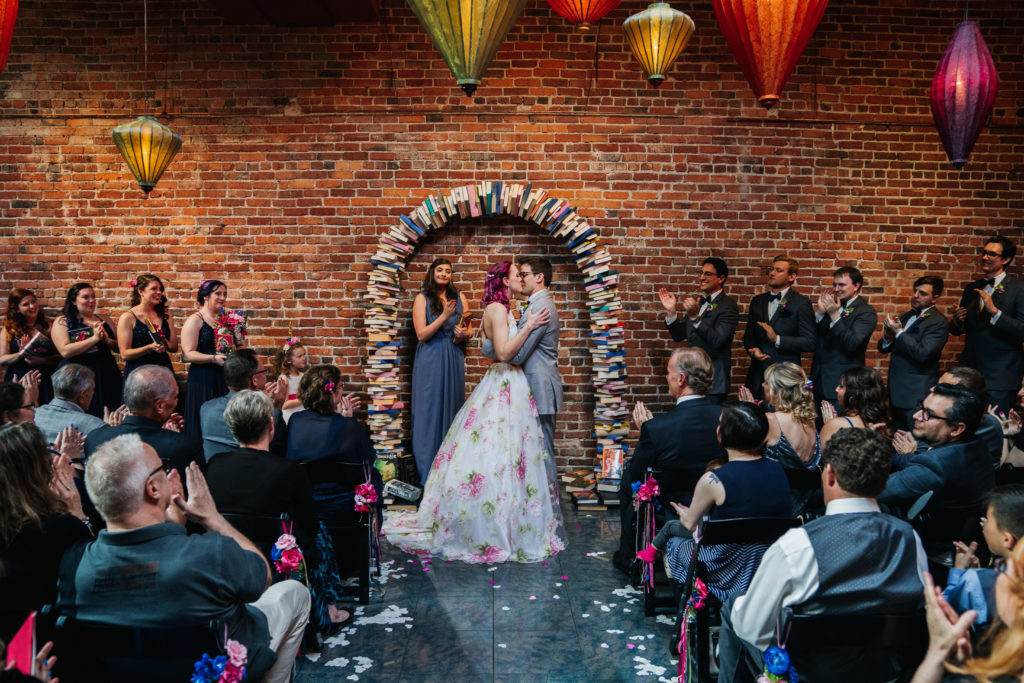 book arch wedding